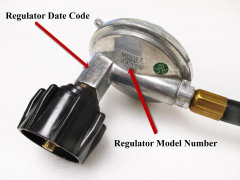 Location of date code and model number