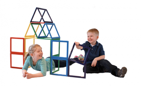 Rainbow Dream Builder children's magnetic building sets