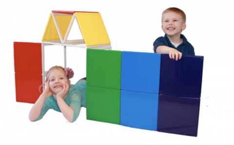 Rainbow Solid Builder children's magnetic building sets