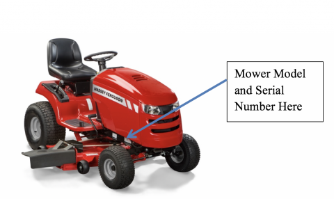 Massey Ferguson Brand Riding Lawn Mower