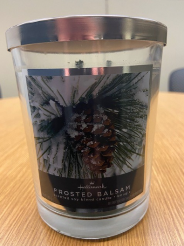 Recalled Frosted balsam jar candles