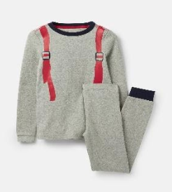 205681-GRYROKTPAK Gray pajama with backpack design  96% cotton 4% elastane 1 through 12