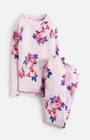 Z_ODRSLEPWL-PKMGRFL Pink pajama with floral print  97% cotton 3% elastane 1 through 12