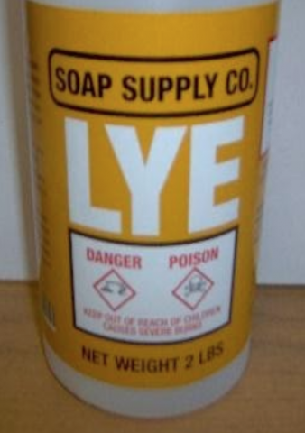 Recalled Soap Supply Co. Lye