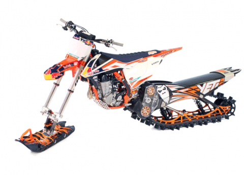 Recalled Yeti Snow MX conversion kit model year 2018 installed.