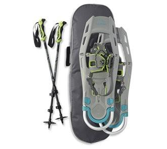 "L.L. Bean Adventure Adjustable Snowshoe Package 25""-30"" in Glacier/Teal"