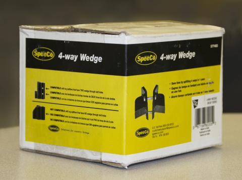 SpeeCo 4-way wedge packaging