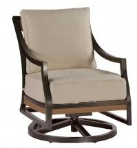 Belize Swivel Rocking Lounge Chair In Mahognay finish