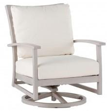 Charleston Swivel Rocking Lounge Chair In Oyster Finish