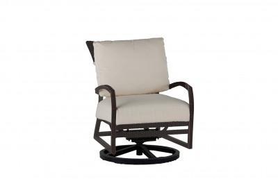 Skye Swivel Rocking Lounge Chair In Black Walnut Finish