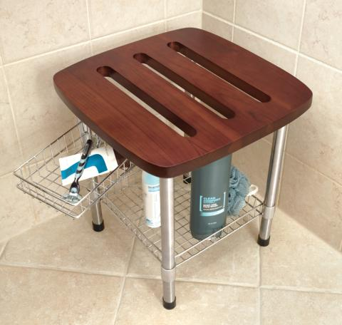 Hammacher Schlemmer Recalls Teak Shower Stools Due to Fall Hazard