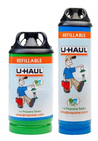 U-Haul 1 lb. refillable propane cylinders