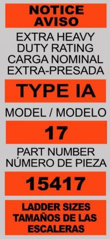 Label on recalled Velocity model ladders