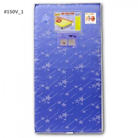 Visco Pedic Innerspring standard mattress in blue star