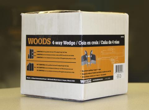 Woods 4-way wedge packaging