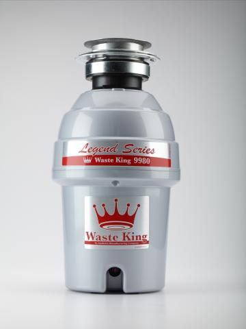 Waste King Legend Series 1HP 3 Bolt Mount Garbage Disposer (model no. 9980)