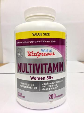 """Well at Walgreens"" multivitamin Women 50+ tablets"