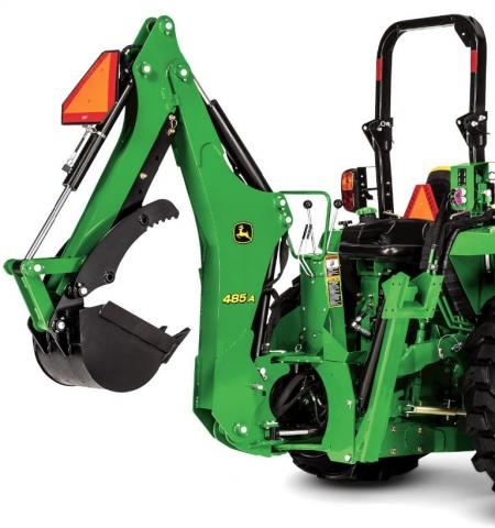 John Deere model 485A backhoe attachment