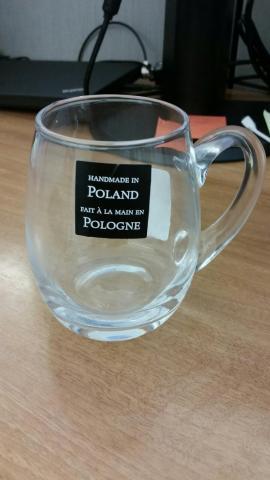 TJX-HomeGoods Glass Beer mugs