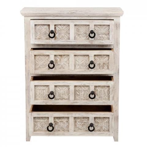 Recalled Home Decorators Collection Print Block 4-Drawer Whitewash Chest