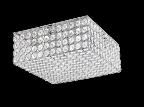 Kichler Krystal Ice ceiling fixture (square chrome finish)