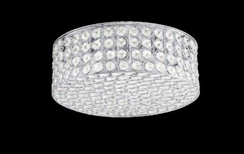 Kichler Krystal Ice ceiling fixture (cylindrical chrome finish)