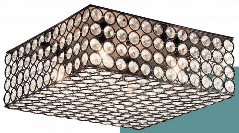 Kichler Krystal Ice ceiling fixture (square bronze finish)