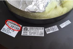 Example of label with style number inside of canopy