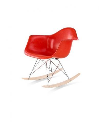 Herman Miller's Eames molded fiberglass armchair non-upholstered rocker