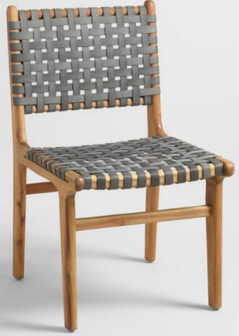 Beau SKU Number: 536033 Girona Grey Strap Dining Chair