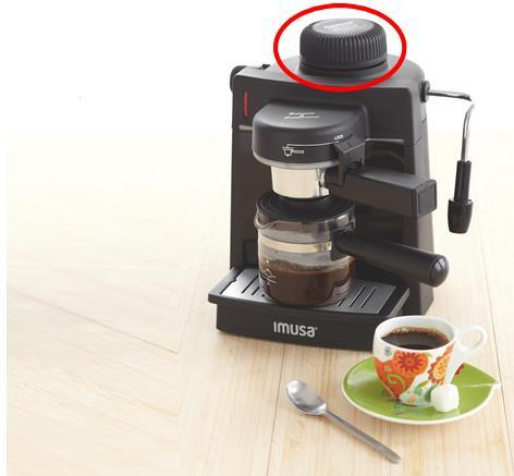 IMUSA's Espresso Makers GAU - 18200 (black)