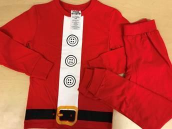 Recalled pajama set – Santa Claus print