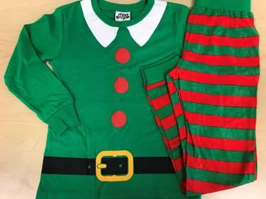 Recalled pajama set – Elf print