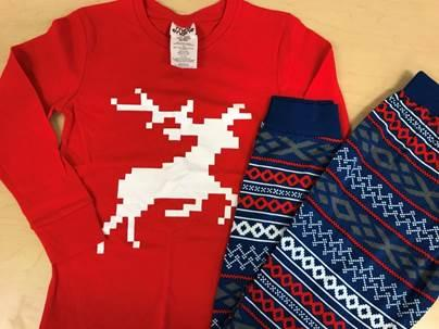 Recalled pajama set – reindeer print