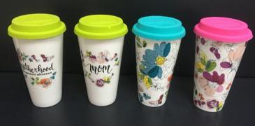 Michaels Celebrate It™ ceramic travel mugs