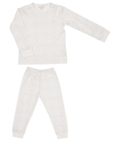 Children's two-piece pajama set in reptile print