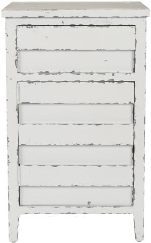 Front view of the recalled Audrey lingerie chest in white smoke