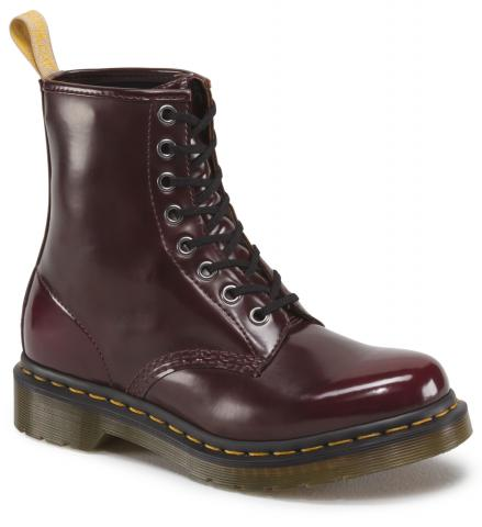 Dr. Martens Vegan 1460 boots in cherry red