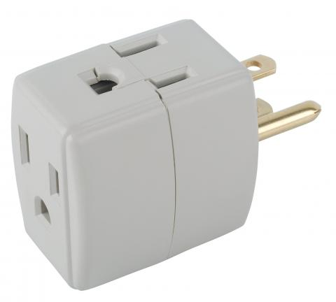 Commercial electric 15-Amp triplex outlet converter