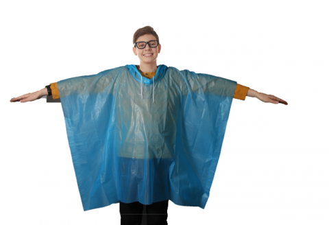 Wealers' kids rain poncho – front view