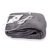 Gray Electric Heated Micro Plush Flannel Sherpa Throw Blanket (50x60 in)