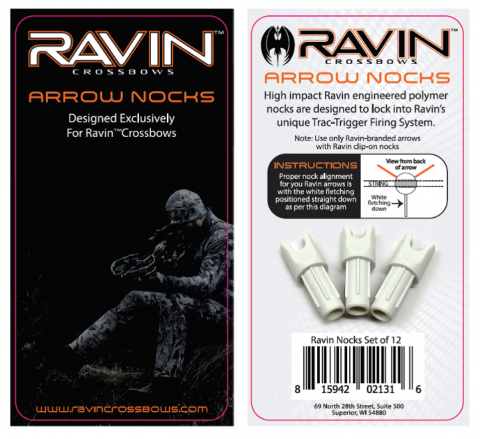 Recalled arrow nocks with packaging
