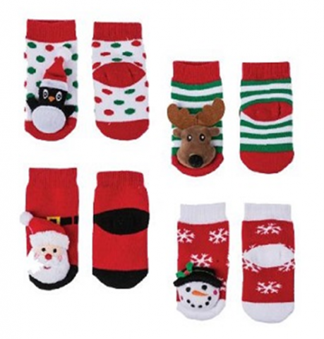 Recalled Midwest-CBK Penguin, Reindeer, Santa, and Snowman socks.
