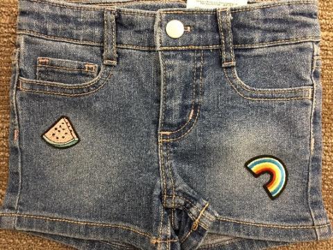 Okie Dokie Denim Patches Shortie shorts