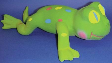 Recalled rubber critter frog toy