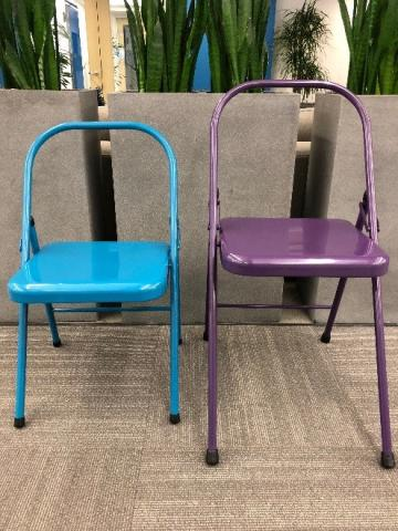 Recalled Spiraledge Everyday Yoga Backless Yoga Chair (left) and the Everyday Yoga Tall Backless Yoga Chair (right).