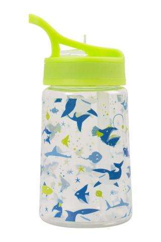 Green lid with shark print