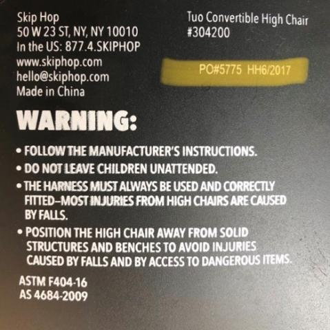 The style number and date code can be found on the back of the chair.