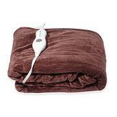 Brown Electric Heated Micro Plush Flannel Sherpa Throw Blanket (50x60 in)