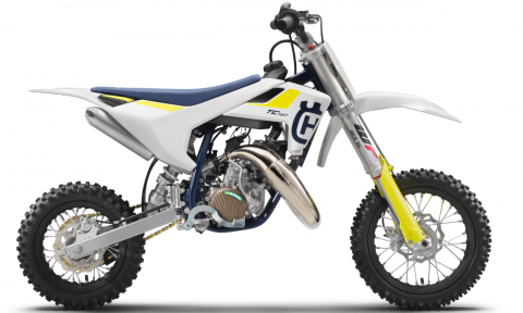 Recalled 2019 Husqvarna TC 50 motorcycle.